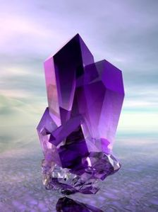 Amethyst and blue sky