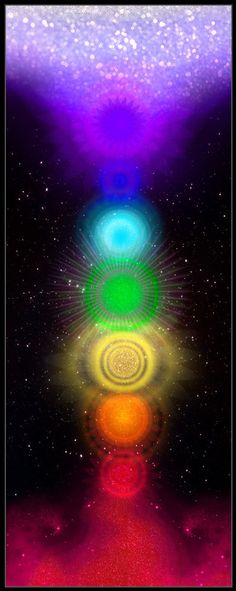 Chakras with expanding crown