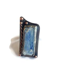 Indigo kyanite ring