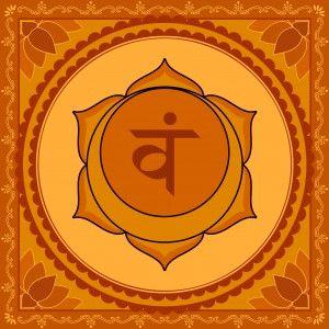 orange sacral chakra symbol