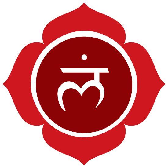 red root chakra symbol